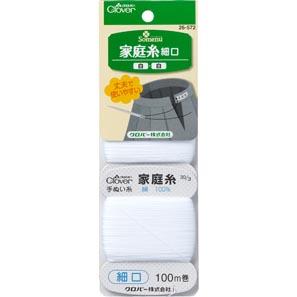 家庭糸(白・白) 細口(30番)