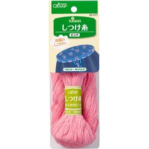 しつけ糸 ピンク