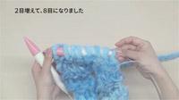 一玉アナアキマフラー 増し目(5/6)