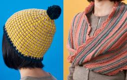 ダブルフックアフガン針とメビウス編み