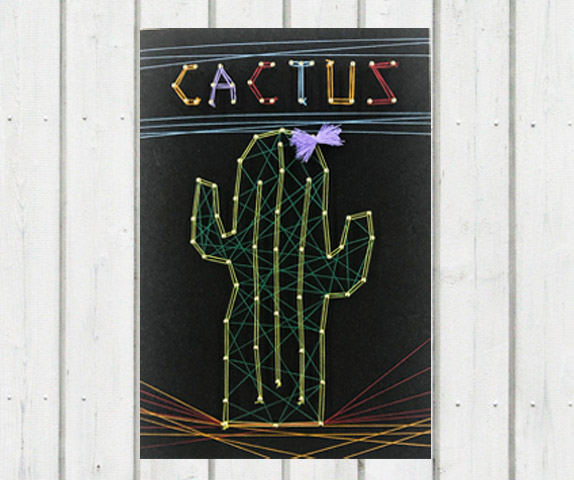 ストリングボード フリーデザインを使ったサボテン(CACTUS)のストリングボード
