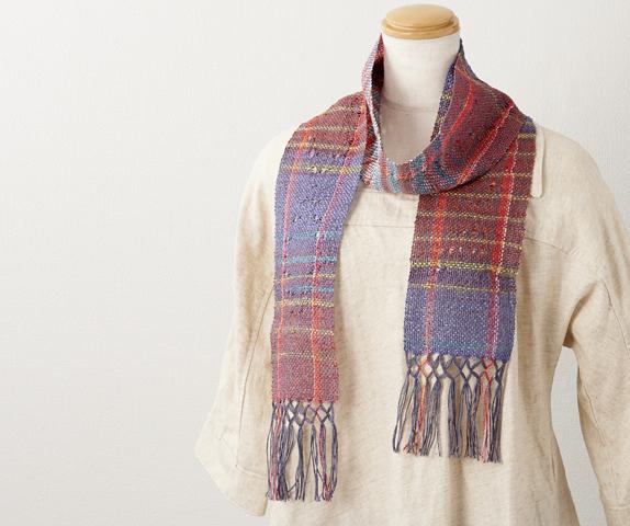「咲きおり」で織る 透かし織りの夏ストール