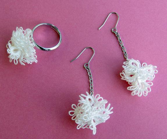 タティングレースの編み方!手作りタティングレー …