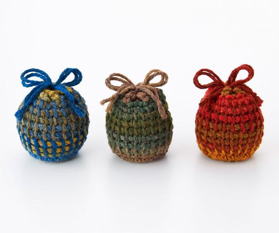 39db474a9a62 ダブルフックアフガン針とジャンボガーデンで編む巾着 ...