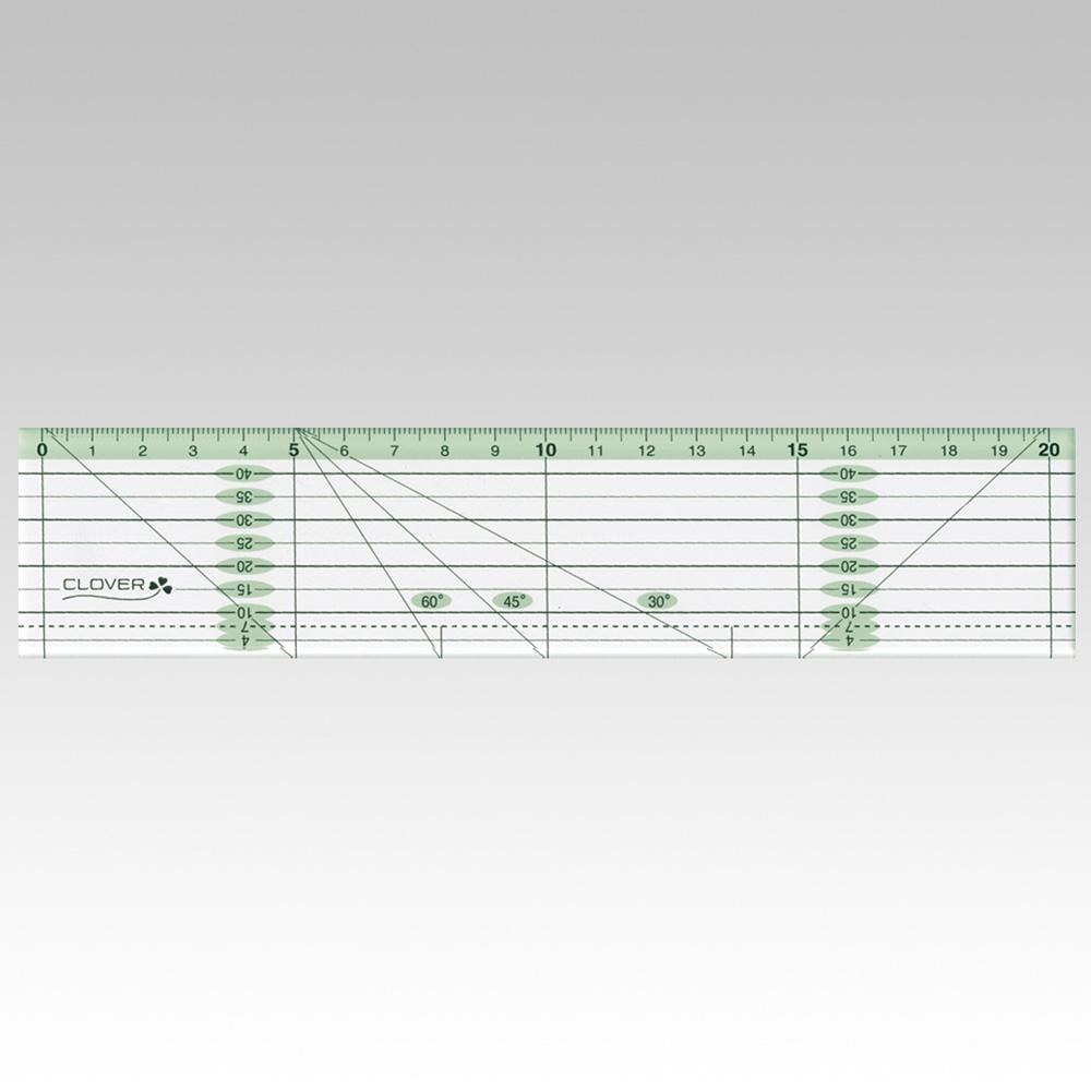 パッチワーク定規  <カラーライン 20cm>