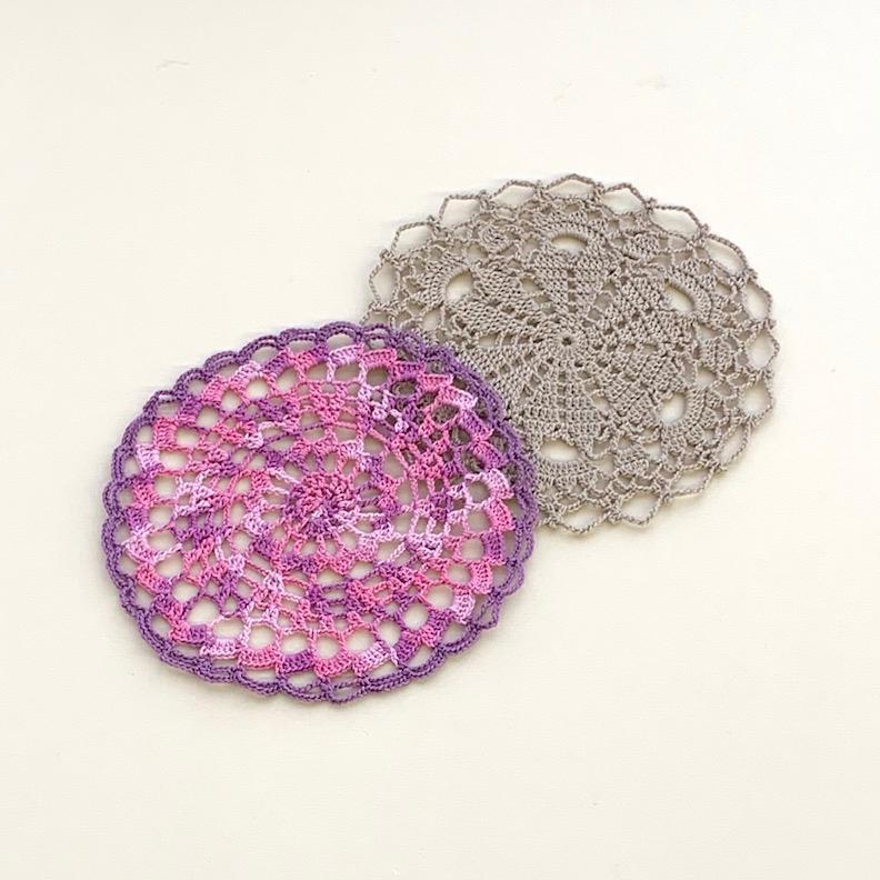 レース針「アミュレ」で編む お花のミニドイリー