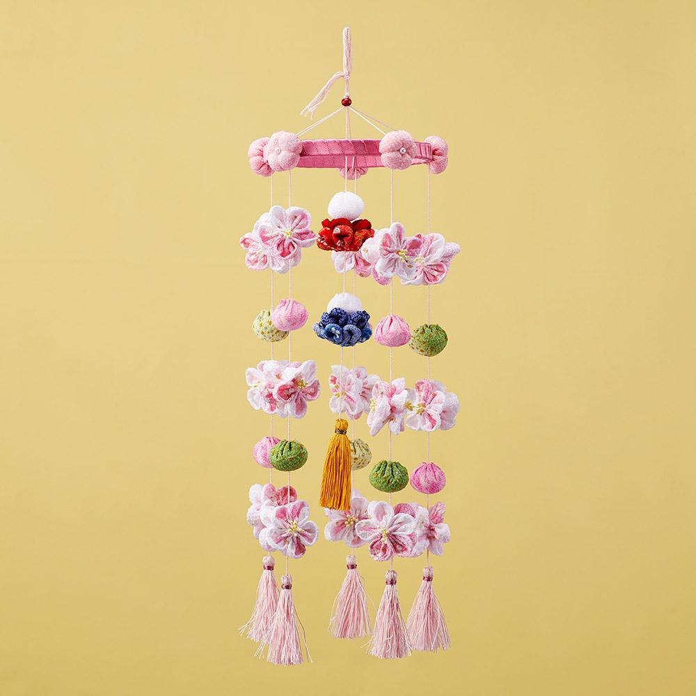 つまみ細工プレートで作る ひな祭りのつるし飾り
