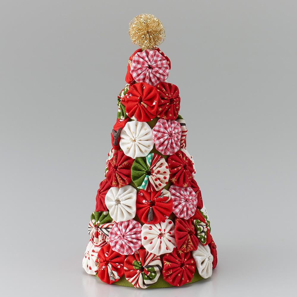 ちくちくヨーヨープレート<S>で作る クリスマスカラーのツリー