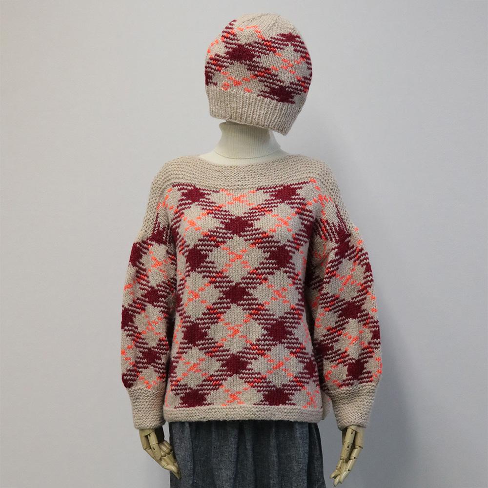 マジックナンバーで編むセーター&帽子A