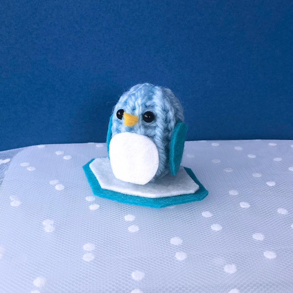 ワンダーリリアンで作る ペンギンのあみぐるみ